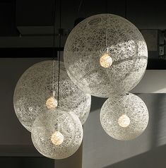 I've always loved the MOOOII Random Pendants designed by Marcel Wanders, although they have become main stream.  I like using this fixture in clusters as a beautiful focal point to an interior.  Dramatic in scale yet not heavy. Transparent shell offers a light ethereal feel -