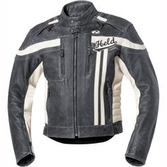 Held 5424 Harvey Leather Jacket - Black Grey Stone