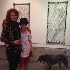 Amanda Stuart with her son Dillon a.k.a. Dizzy and dog Texas a.k.a. Tex