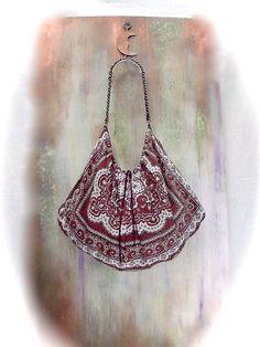 fashion BOHO TOTE BAG  silk Scarf hand bag  Bags by agnesedejuliis, €67.00