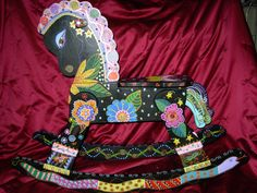 painted rocking horse by Marie Lloyd