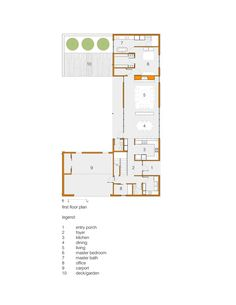 Gallery of House for Five / designshop - 25. looks eco friendly. click for upper level plan &  pics.