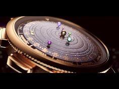 Marca cria relógio de pulso com planetas do sistema solar girando no lugar de ponteiros