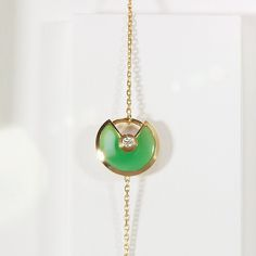 Echoing nature's brilliant shade of green, chrysoprase inspires uplifting energy and strength. #AmulettedeCartier #UnlockYourWish