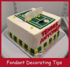 Tennis Anyone?   How to make Fondant here.