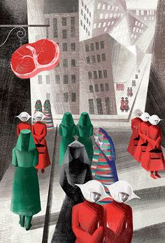 Anna & Elena Balbusso illustration for 'The Handmaid's Tale' by Margaret Atwood, 2017 (The Folio Society) Margaret Atwood, The Handmaid's Tale Book, Cover Art, A Handmaids Tale, Handmaids Tale Quotes, Handmade Tale, Cultura Pop, A Team, Science Fiction