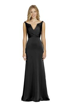 Jim Hjelm 5425 Luminescent Chiffon Bridesmaid Dress black