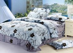 Modern Hand-painted Flowers 4 Piece Comfortable Duvet Cover Bedding Sets : Tidebuy.com