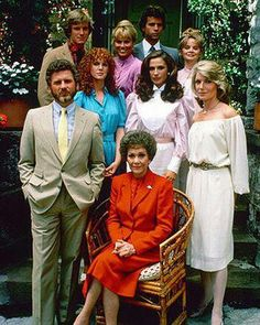 """Cast of """"Falcon Crest"""", another night time soap opera!!!"""