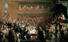The trial of the Seven Bishops led to the overthrow of the oppressive monarch, James II. William and Mary replaced him on the throne and implemented new constitutional freedoms that promoted human rights and limiting the power of monarchical rule. (Image: The Trial of the Seven Bishops by John Rogers Herbert. Public Domain via Wikimedia Commons.)