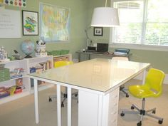 another fun school/craft room. Love that nice big table for spreading out