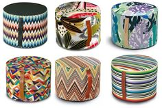 Missoni poufs, available from Wannekes / $277 each, http://www.wannekes.com/categorie/christien_meindertsma_modern_contemporary_design