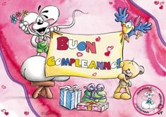 Immagini Frasi Buon Compleanno con i Diddle Disney Characters, Fictional Characters, Birthdays, Greeting Cards, Happy Birthday, Snoopy, Art, Google, Stationary