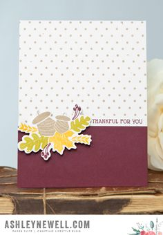 Thankful For You Card by Ashley Cannon Newell for Papertrey Ink (August 2015)