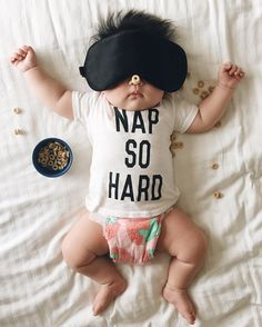 This baby naps so hard the mom dresses them up in a variety of costume.