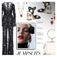 """""""One and Done: Jumpsuits"""" by beautifulplace ❤ liked on Polyvore featuring Dolce&Gabbana and Chloé"""