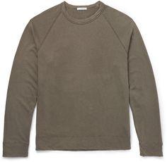 James Perse Loopback Pima Cotton-Jersey Sweatshirt