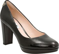 Clarks Women's Kendra Sienna Pump,Black Leather,US 7 M - Clarks pumps for women (*Amazon Partner-Link)