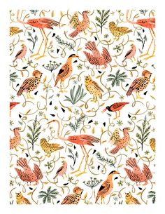 Birds Print 8.5x11 by VikkiChu on Etsy