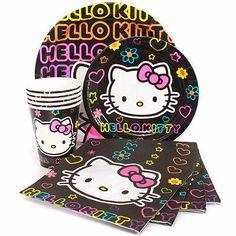 Hello kitty greetings cricut cartridge brand new not linked hello neon hello kitty birthday party supplies napkins plates cups m4hsunfo