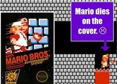 Mario actually died in Super Mario Bros as pictured on the front cover. If you want to see funny picture of Super Mario Bros you can visit our website Super Luigi Bros