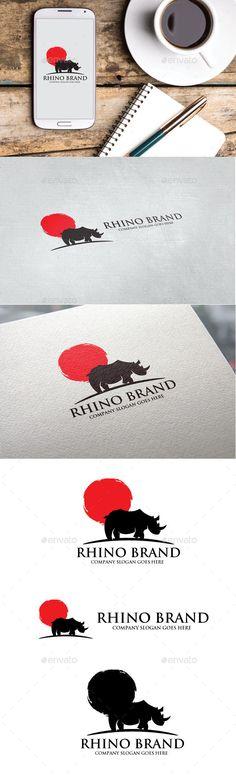 Rhino Brand Logo - Animals #Logo #Templates Download here:  https://graphicriver.net/item/rhino-brand-logo/20205830?ref=alena994