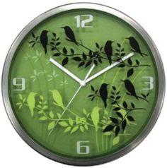 Birds Silk Screen Wall Clock