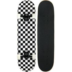 Amazon.com : Pro Skateboard Complete Deck Checker / Checkered Pattern... ($58) ❤ liked on Polyvore featuring skateboarding
