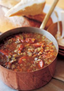 Barefoot Contessa - Recipes - Lentil Sausage Soup