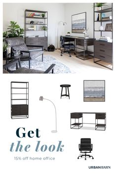 Get motivated with 15% off home office furniture. Save on desks, chairs and display shelves to spark creativity in style.