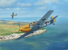 A Brilliant Career  Me109E flown by Oblt. Josef Priller of 6/Jg51 off the English Channel coast.