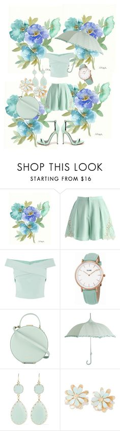 """""""Mint"""" by lydiamaynor ❤ liked on Polyvore featuring interior, interiors, interior design, home, home decor, interior decorating, Chicwish, Coast, CLUSE and Tammy & Benjamin"""