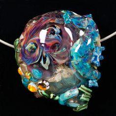 Glass Lampwork Bead  Turquoise Blue Sea Horse by PatsyEvinsStudio, $127.00