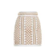 Balmain Lace-up leather mini skirt (84.935 ARS) ❤ liked on Polyvore featuring skirts, mini skirts, bottoms, saias, balmain, юбки, ivory, ivory skirt, short mini skirts and eyelet skirts