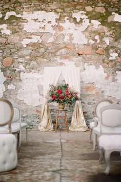 photo by em the gem // florals by huckleberry karen designs // vintage lounge furniture + vintage wooden stool by one true love vintage rentals // creative direction + design + styling by amandaoshannessy creative