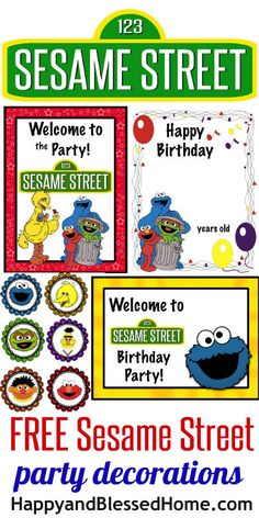 FREE Sesame Street Party decorations!