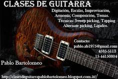 Clases de Guitarra:   Pablo Bartolomeo: Clases de Guitarra