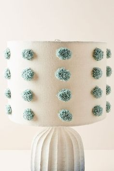 Tufted Bungalow Lamp Shade by Anthropologie in Blue, Lighting Unique Lamps, Unique Lighting, Creation Deco, Tiffany Lamps, Bedroom Lamps, Interior Lighting, Lamp Design, Creations, Home Decor