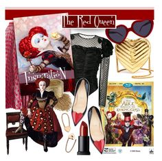 """Through the Looking Glass Style"" by stacey-lynne ❤ liked on Polyvore featuring Yves Saint Laurent, Cynthia Rowley, Gucci, Faith Connexion, NARS Cosmetics, Vince Camuto, Christian Louboutin and Loren Stewart"