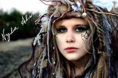 Wandering Willow Wisp  Wig - Example of Special Order- Wig Hair Headpiece Costume Faerie world Renaissance Fairy Wedding Steampunk theater. $99.99, via Etsy.