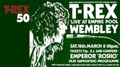 T.Rex - Wembley Empire Pool, 18th March 1972 (Evening Concert) Music Love, Live Music, T Rex, Rock N Roll, Youtube, Dj, 18th, Empire, March