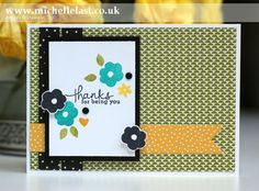 Sketch Challenge using Endless Thanks from Stampin' Up! - Stampin' Up! Demonstrator Michelle Last
