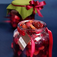 Cranberry Chutney- top some Brie for an instant appetizer or give as a gift