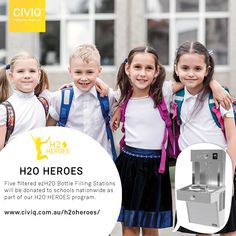 As part of our HEROES program, five filtered Bottle Filling Stations will be donated to schools nationwide! Does your school need access to cleaner, healthier water? Healthy Water, Healthy Kids, Drinking Fountain, Drinking Water, Secondary School, Primary School, Email Subject Lines, Filling Station, Water Quality