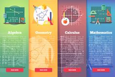 Mathematics science banners set by painterr on @creativemarket