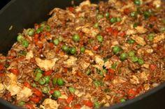 Recipe for Pork Fried Rice using leftover crockpot pork roast.  Brilliant!