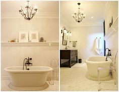 Every woman should have a bathroom like this to go home to!!
