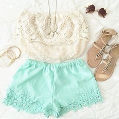 ❤ lace combination.