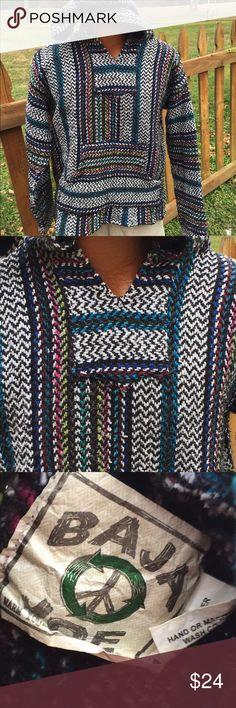 Baja Joe Drug Rug Hippie Pullover Size Medium Size medium. Super gently preowned. Be sure to view the other items in our closet. We offer both women's and Mens items in a variety of sizes. Bundle and save!! Thank you for viewing our item!! Baja Joe Jackets & Coats Lightweight & Shirt Jackets