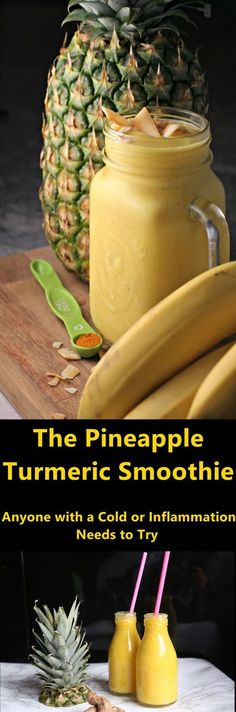 The Pineapple Turmeric Smoothie That Anyone with a Cold or Inflammation Needs to Try